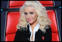 Christina em episódio ao vivo de The Voice