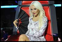 Christina em show ao vivo de The Voice