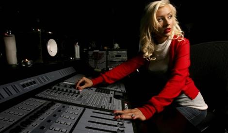 Christina em estúdio