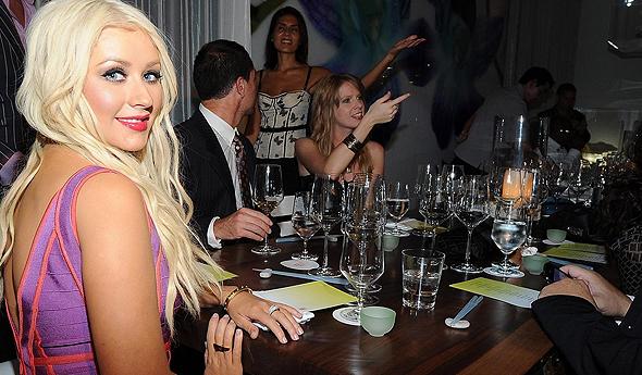 Christina em jantar em 2010