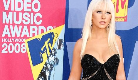 Christina no tapete vermelho do VMA 2008