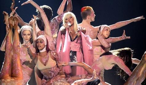 Christina cantando no American Music Awards