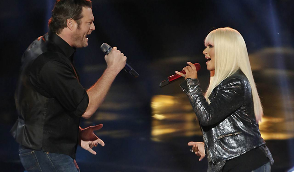 Christina e Blake Shelton cantam Just A Fool em The Voice