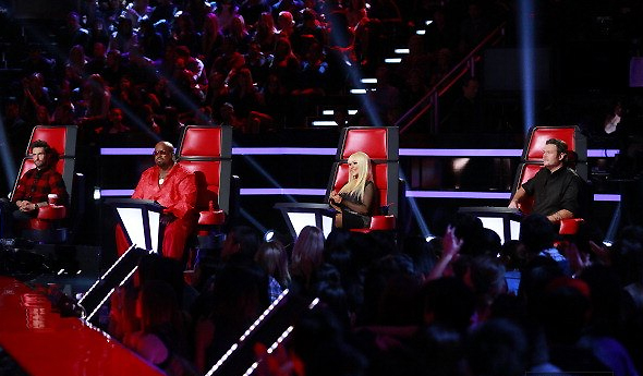 Mentores em show ao vivo do The Voice