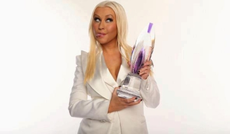 Christina com prêmio do People's Choice