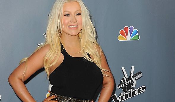Christina na estreia da 4ª temporada de The Voice