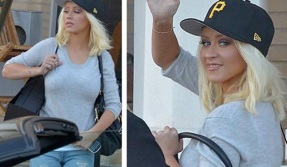 Christina em compras em Beverly Hills