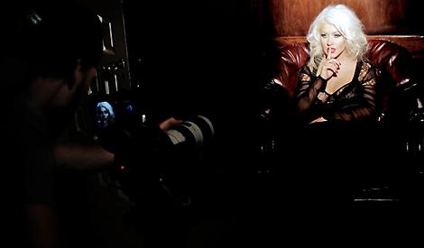 Christina nos bastidores de Unforgettable