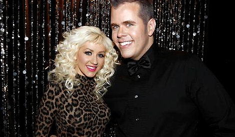 Christina e Perez Hilton em 2009