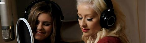 Com Jacquie Lee em estúdio