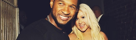 Usher e Christina juntos em The Voice