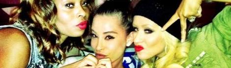 Christina com amigas
