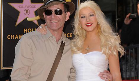 Christina com Ron Fair em 2010