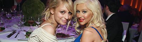 Com Nicole Richie em 2008