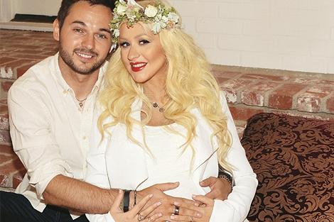 Christina e Matthew no chá de bebê