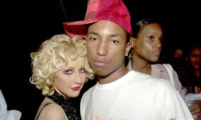 Christina e Pharrell em 2004