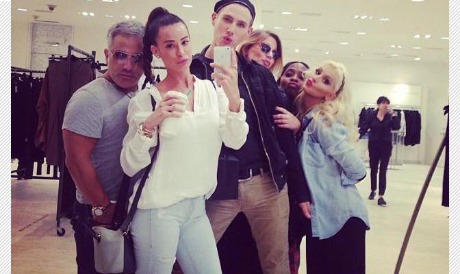 Christina e equipe em Beverly Hills