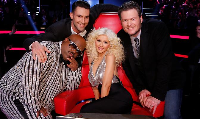 Com Blake, Adam e CeeLo na 5ª Temporada de The Voice