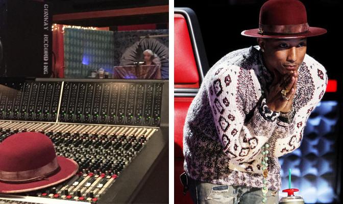 Pharrell reposta foto de Christina em estúdio