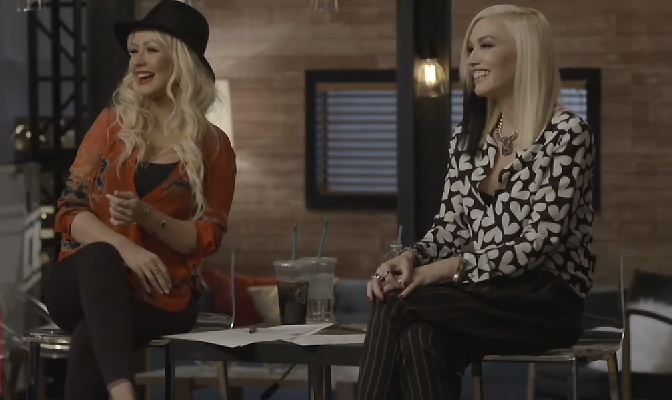 Vídeo – Christina e Gwen Stefani gravam The Voice juntas