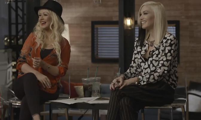 Christina e Gwen se reúnem para o The Voice da próxima semana