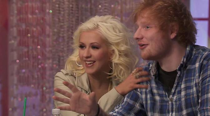 Com Ed Sheeran em 2013