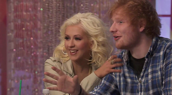 Christina e Ed Sheeran trocam tweets após cover de Dirrty