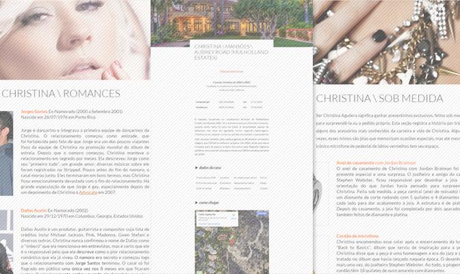 Seções do blog