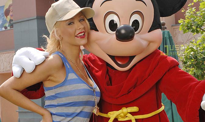 Christina e Mickey em 2007