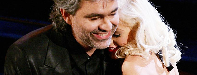 Com Andrea Bocelli em 2006