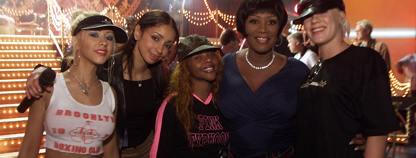Com as garotas de Lady Mamalade em 2001